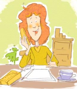 marianna on the phone small lenafusion.gr